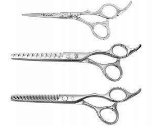 Futasuji 5.0″, Ishizuki 32 tooth & 11 tooth 3 Hair Scissors Set